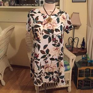 Napoo Women 3XL Floral print Cotton/Linen Dress